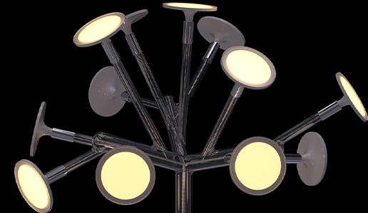 OLED lighting simulation made using ANSYS SPEOS. Courtesy of Blackbody.