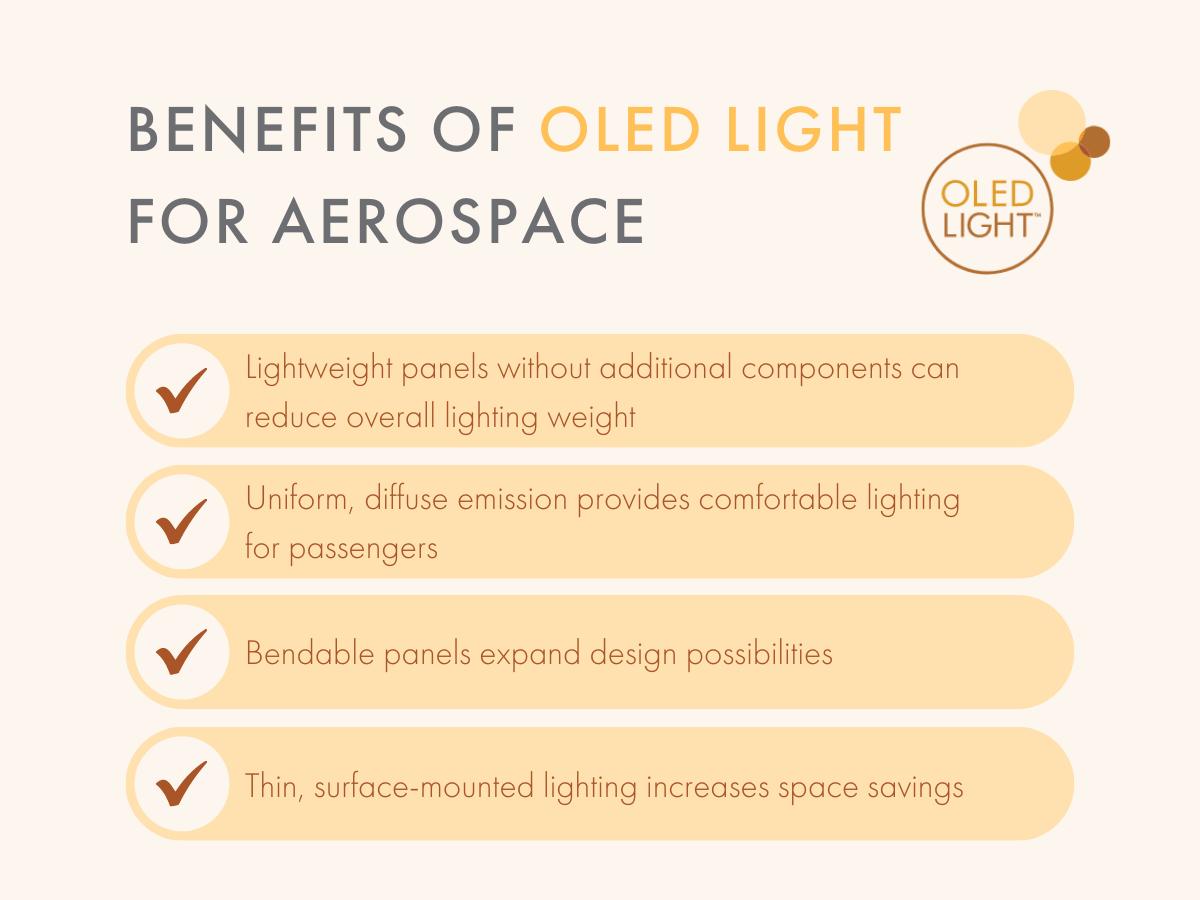 Benefits of OLED Light for Aerospace